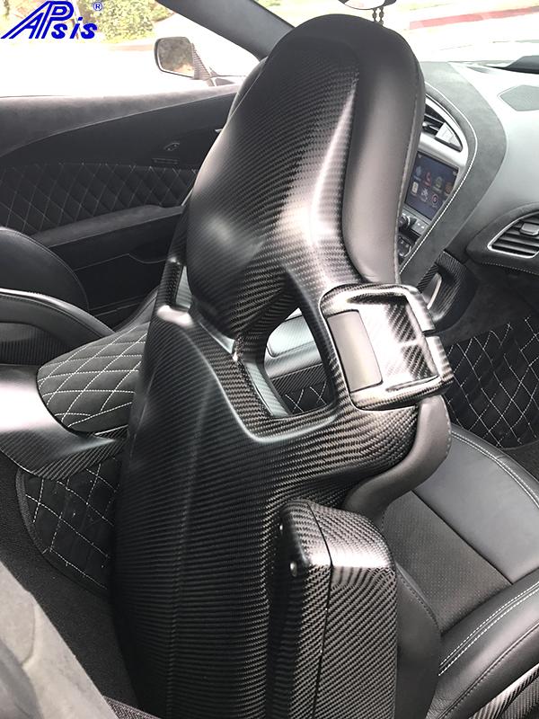 C7 Corvette Matte Carbon Fiber Competition Seat Trim Bezel