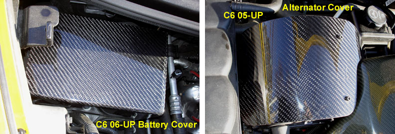 C6 05-13 Black Carbon or Silver Carbon Battery Cover (Overlay) ($388.00)