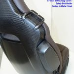 C7 14-UP Lamination Black Carbon Seat Side Airbag Cover for GT Seat  2 pcs/set or Competition Seat 4 pcs/set (Starting from $768.00 + Refundable Core Charge $200.00) (High Gloss or Matte Finish)