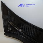 C7 14-UP Lamination Black Carbon Windshield Cowl (Core Exchange)  ($1,998.00 + Refundable Core Charge $300.00) (High Gloss or Matte Finish)