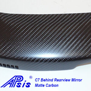 C7 14-UP Lamination Black Carbon Bezel Behind Rear View Mirror ($368.00 + Refundable Core Deposit $150.00) (High Gloss or Matte Finish)