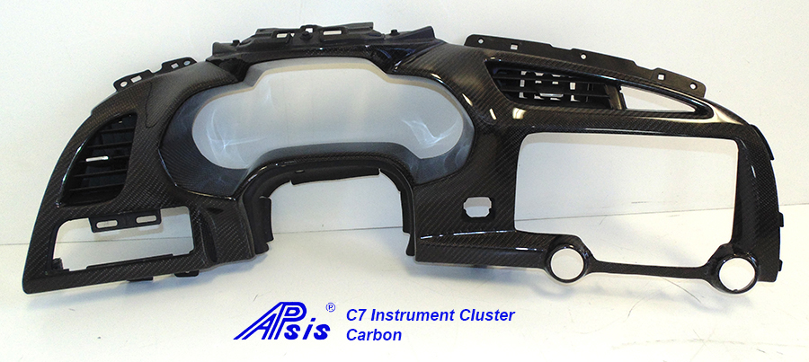 C7 14-UP Lamination Black Carbon Instrument Cluster, Carbon on Left & Right Only or Whole Pc in Carbon (High Gloss or Matte Finish) (Core Exchange) (Starting from $998 + Refundable Core Deposit $325)