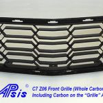 C7 14-UP Lamination Black Carbon Floor Console (Shifter Bezel), Carbon with or without Silver Trim, with Standard or Reverse Weaving (Core Exchange) ($998 + Refundable Core Deposit $355)  (High Gloss or Matte Finish)
