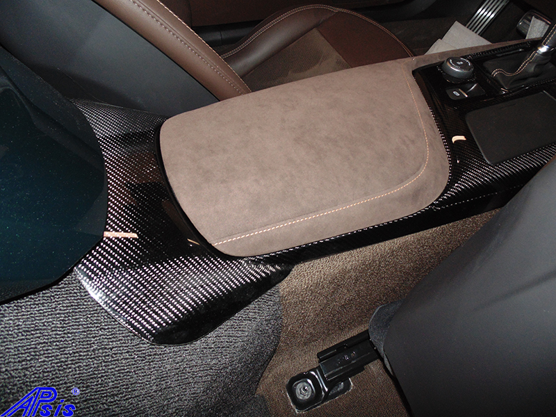 C7 14-UP Lamination Black Carbon Waterfall (Floor Console Base) with Standard or Reverse Weaving.   (Core Exchange) ($898 + Refundable Core Deposit $350) (High Gloss or Matte Finish)