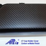 C7 14-UP Lamination Black Carbon Cup Holder Cover, with Standard or Reverse Weaving (Core Exchange) ($198 + Refundable Core Deposit $100)  (High Gloss or Matte Finish)