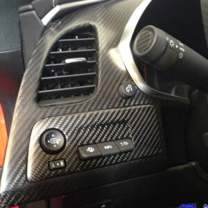 C7 14-UP Lamination Black Carbon Power Mirror Bezel for Coupe or Convertible (Core Exchange)  ($188.00 + Refundable Core Charge $30.00) (High Gloss or Matte Finish)