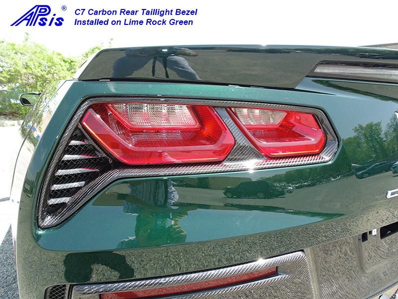 C7 14-UP Lamination Black Carbon Taillight Surround Bezel, 2 pcs/set (Core Exchange)  ($568.00 + Refundable Core Charge $200.00) (High Gloss or Matte Finish)