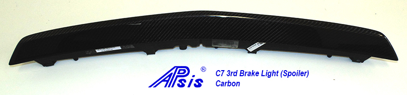 C7 14-UP Lamination Black Carbon 3rd Brake Light (Spoiler) (Core Exchange)  ($298.00 + Refundable Core Charge $150.00) (High Gloss or Matte Finish)