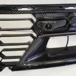 C7 Z06 2015 Lamination Black Carbon Front Grille with or without Camera (Whole pc including Center Grille Area & Back Vertical Panel in Carbon) (Starting from Whole pc Including Grille) (Core Exchange)  (Starting from $1,198.00 + Refundable Core Charge $300.00) (High Gloss or Matte Finish)