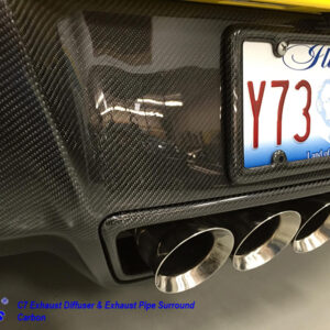 C7 14-UP Lamination Black Carbon Exhaust Pipe Surround (Core Exchange)  ($468.00 + Refundable Core Charge $275.00) (High Gloss or Matte Finish)