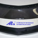 C7 or C7 Z06 14-UP Lamination Black Carbon Hood Air Vent Extension (under the hood) (Core Exchange)  (Starting from $698.00 + Refundable Core Charge $150.00) (High Gloss or Matte Finish)