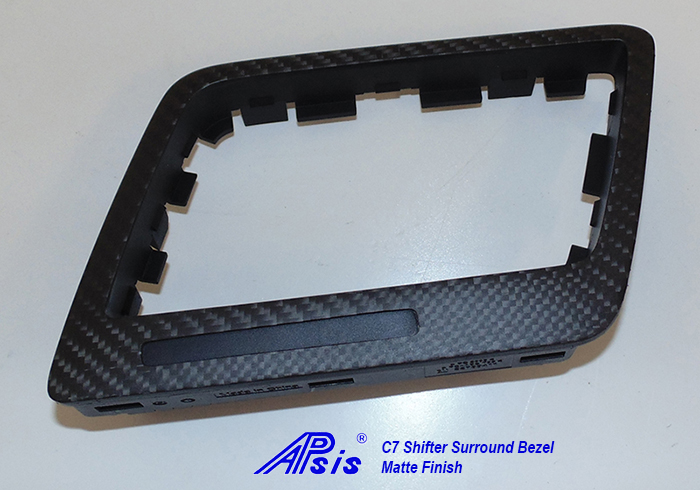 C7 14-UP Lamination Black Carbon Shifter Surround Bezel, ($288.00 + Refundable Core Charge $30.00) (High Gloss or Matte Finish)