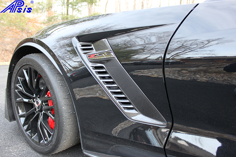 C7 14-UP Lamination Black Carbon Z06 Front Side Air Vent, (Core Exchange)  (Starting from $328.00 + Refundable Core Charge $100.00)