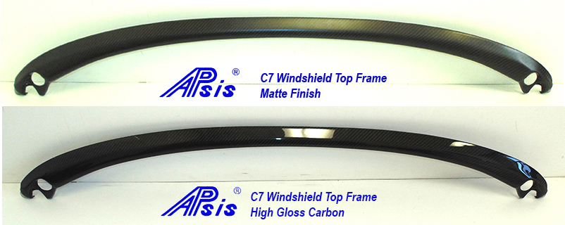 C7 14-UP Lamination Black Carbon Convertible Windshield Top Frame (Core Exchange) ($768.00 + Refundable Core Deposit $250.00) (High Gloss or Matte Finish)