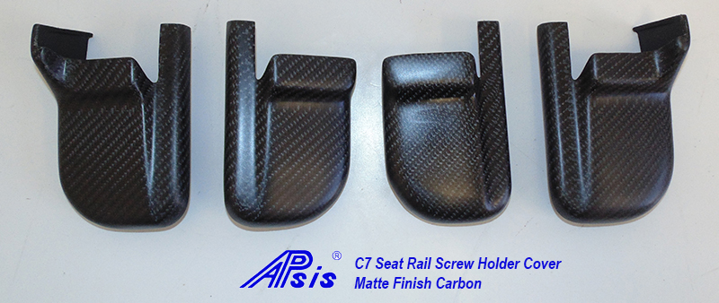 C7 14-UP Lamination Black Carbon Seat Rail Cover 4pcs/set ($368.00 + Refundable Core Deposit $200.00) (High Gloss or Matte Finish)
