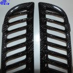 C7 Z06 15-UP Lamination Black Carbon Exhaust Diffuser Side Vent, (Core Exchange)  (Starting from $668.00 + Refundable Core Charge $150.00) (High Gloss or Matte Finish)