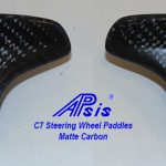 C7 14-UP Lamination Black Carbon Steering Wheel Paddles & Controls, (Core Exchange)  (Starting from $348.00 + Refundable Core Charge $100.00) (High Gloss or Matte Finish)
