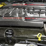C7 14-UP Lamination Black Carbon Engine Block Cover (Insulator) for w/o Dry Sump (Non Z51) or with Dry Sump (Non Z51) or for LT1, 2 pcs/set (Core Exchange)  ( $698.00 + Refundable Core Charge $150.00) (High Gloss or Matte Finish)
