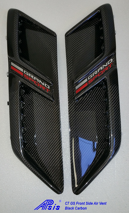 C7 Grand Sport 17-UP Lamination Black Carbon Front Side Air Vent (Core Exchange) ($428.00 + Refundable Core Deposit $200.00) (High Gloss or Matte Finish)