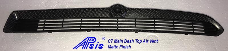 C7 15-UP Lamination Black Carbon Main Dash Center Top Air Vent (Core Exchange) ($368.00 + Refundable Core Deposit $100.00) (High Gloss or Matte Finish)