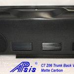 C7 Z06 15-UP Lamination Black Carbon Trunk Back Vertical Panel (Core Exchange) ($1,488.00 + Refundable Core Deposit $200.00) (High Gloss or Matte Finish)