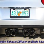 C6 05-13 Lamination Black Carbon or Silver Carbon Exhaust Diffuser (Core Exchange)  ($2,500.00 + Refundable Core Charge $500.00)