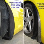 C6 05-13 Matte Black, Black Carbon or Silver Carbon Z06 Style Front Splash Guard or Rear Splash Guard for Regular C6 Coupe or Convertible w/ Rubber Gasket (Standard Style) 2pcs/set  (Starting from $228.00)