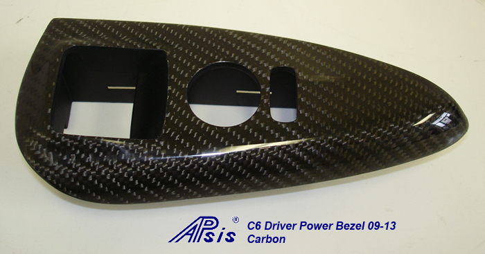 C6 05-13 Lamination Burlwood, Black Carbon or Silver Carbon Driver Power Window Bezel (Core Exchange) (Starting from $275.00 + Refundable Core Charge $60.00)