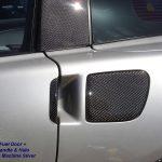 C6 05-13 Lamination Burlwood, Black Carbon or Silver Carbon Fuel Door Cover (Core Exchange) ($298.00 + Refundable Core Charge $100.00)