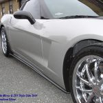 C6 05-13, Matte Black, Black Carbon or Silver Carbon  ZR1 Style Side Skirt Fit for Coupe or Convertible, 2pcs/set (Starting from $898.00)