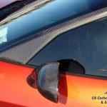 C6 05-13 Lamination Black Carbon or Silver Carbon Side Mirror, 2pcs/set (Core Exchange)  ($1,388.00 + Refundable Core Charge $800.00)