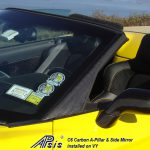C6 Z06 06-13 Lamination Black Carbon or Silver Carbon Air Inlet Screen (Core Exchange)  ($398.00 + Refundable Core Charge $50.00)