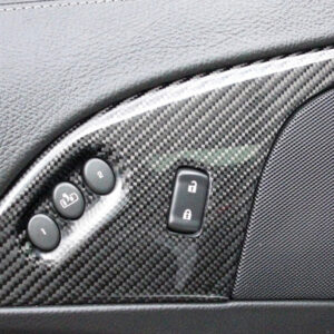 C6 05-13 Lamination Burlwood, Black Carbon or Silver Carbon Power Lock Bezel with or without Memory Seat, 2 pcs/set (Core Exchange)  (Starting from $675.00 + Refundable Core Charge $80.00)