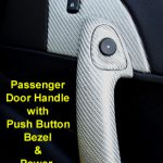 C6 05-13 Lamination Burlwood, Black Carbon or Silver Carbon Passenger Door Handle (Core Exchange) (Starting from $275.00 + Refundable Core Charge $65.00)