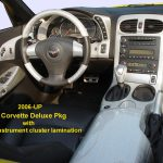 C6 05-07 Lamination Burlwood, Black Carbon or Silver Carbon Trim Plate w/ Passenger Airbag Light, Plain, w/ Adj. Suspension Only or w/ Adj. Suspension & Passenger Airbag Light (Core Exchange)  (Starting from $175.00 + Refundable Core Charge $35.00)