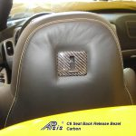 C6 05-13 Lamination Black Carbon or Silver Carbon Seat Back Release Bezel, 2 pcs/set (Core Exchange)  ($198.00 + Refundable Core Charge $50.00)
