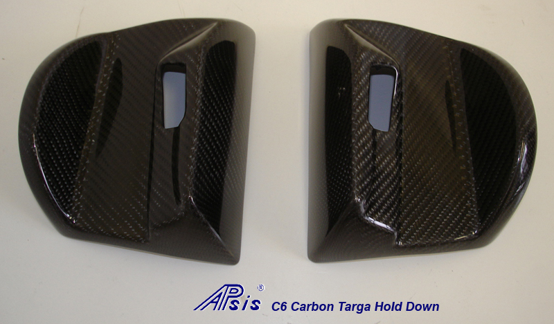 C6 05-13 Lamination Black Carbon or Silver Carbon Targa Hold Down Bezel (Core Exchange)  ($588.00 + Refundable Core Charge $100.00)