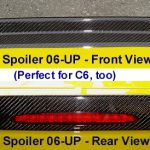 C6 05-13 Lamination Black Carbon or Silver Carbon 3rd Brake Light Surround, Regular C6 or Z06 2 pcs/set (Core Exchange)  (Starting from $250.00 + Refundable Core Charge $50.00 or $75.00)