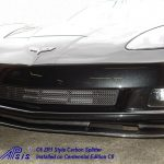 C6 05-13, Matte Black, Black Carbon or Silver Carbon  ZR1 Style Front Splitter Fit for Coupe or Convertible (Starting from $698.00)