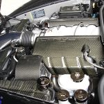 C6 05-13 Black Carbon or Silver Carbon Radiator Overflow Tank Cover (Overlay) ($398.00)