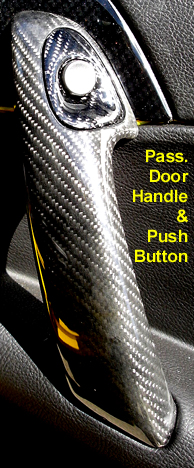 C6 05-13 Lamination Burlwood, Black Carbon or Silver Carbon Push Button Door Opener (Core Exchange)  (Starting from $225.00 + Refundable Core Charge $100.00)
