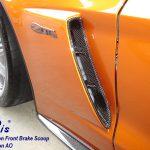 C6 Z06 06-13 Lamination Black Carbon or Silver Carbon Front Brake Air Scoop Bezel, 2 pcs/set (Core Exchange)  ($695.00 + Refundable Core Charge $60.00)