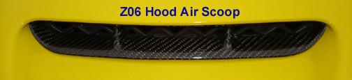 C6 Z06/ZR1/GS 06-13 Lamination Black Carbon or Silver Carbon Hood Air Scoop Bezel (Core Exchange)  ($350.00 + Refundable Core Charge $40.00)