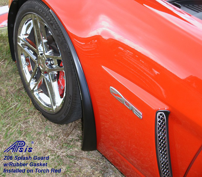 C6 Z06/GS/ZR1 06-13 Matte Black, Black Carbon or Silver Carbon Z06 Front Splash Guard w/ Rubber Gasket, with or without Side Skirt (Standard or Narrow Version) 2pcs/set  (Starting from $328.00)