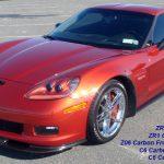 C6 Z06/GS/ZR1 06-13 Matte Black, Black Carbon or Silver Carbon ZR1 Replica Rear Front Guard, 2pcs/set (Starting from $198.00)